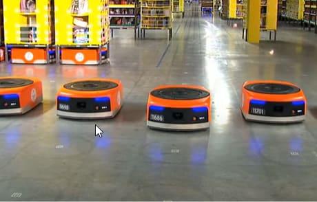 La multinacional Amazon realiza una IA capaz de controlar 1000 robots de almacén